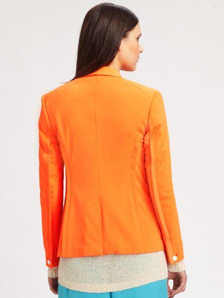 Rag & Bone Silver Tuxedo Jacket in Orange
