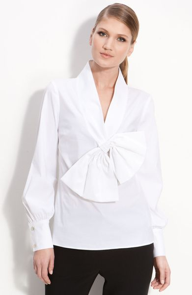 Women'S Fitted White Blouse 108