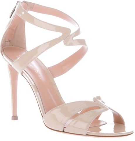 Gianvito Rossi Stiletto Sandal in Beige (nude)