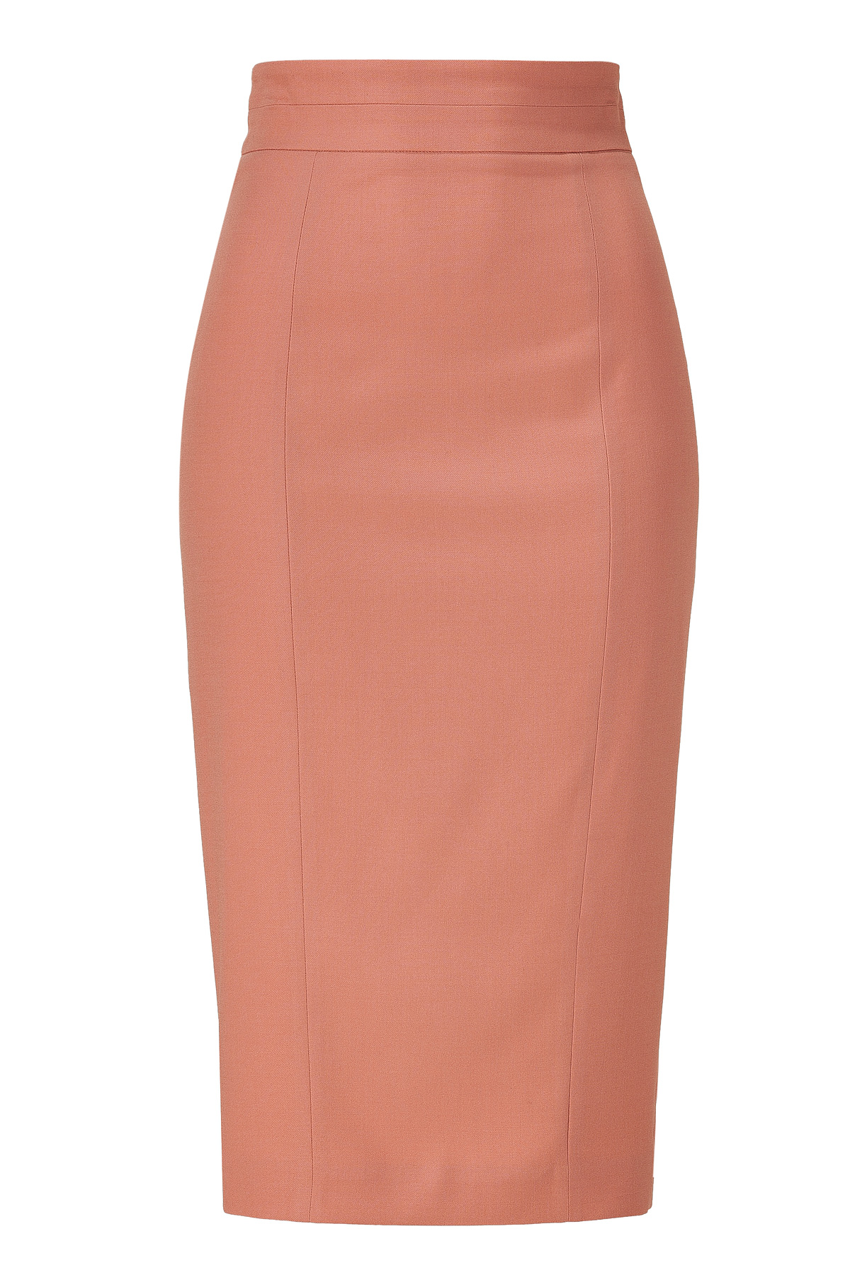 L'wren scott Burnt Coral High Waisted Pencil Skirt in Pink | Lyst