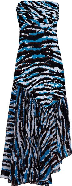 Missoni Rosa Strapless Dress in Animal - Lyst