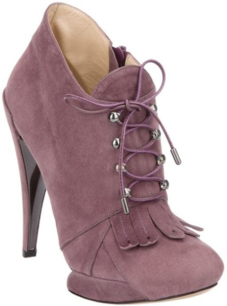 Nicholas Kirkwood Fringed Ankle Boot in Purple - Lyst