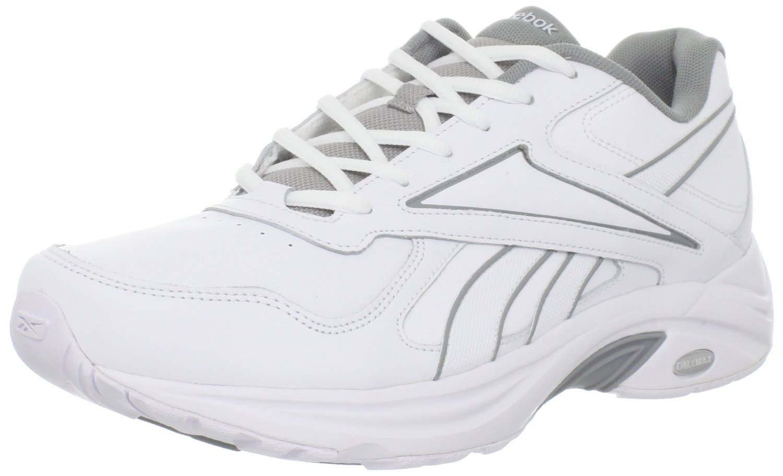 reebok mens dmx max mania walking shoe in white for