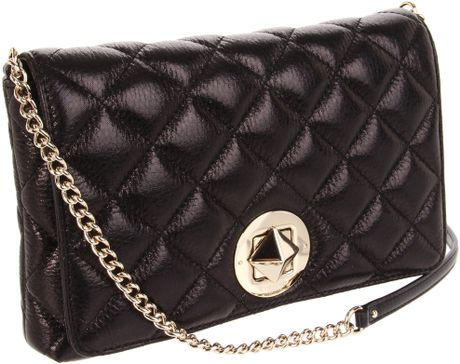Kate Spade Meadow Quilted Shoulder Bag Large in Black