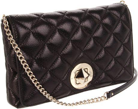 Kate Spade Meadow Quilted Shoulder Bag Large in Black