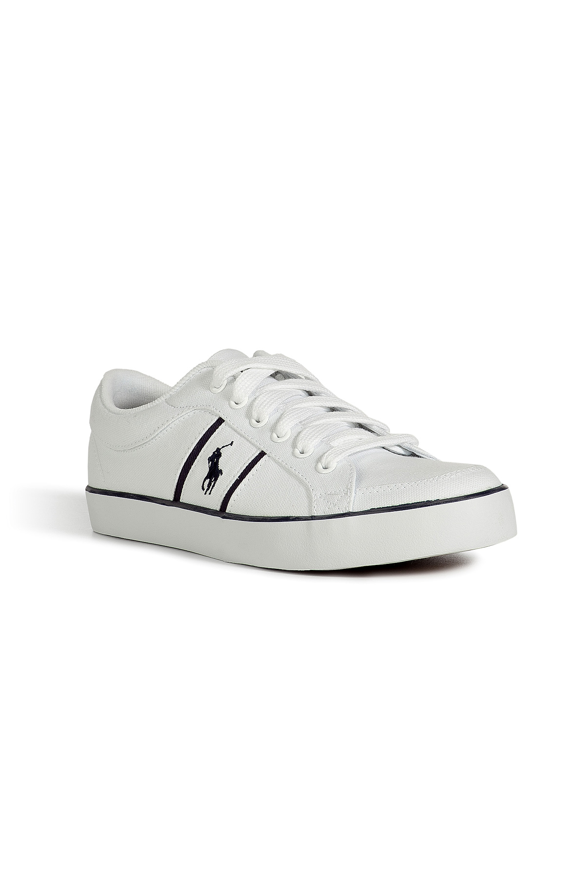 Ralph Lauren White Canvas Shoes Women