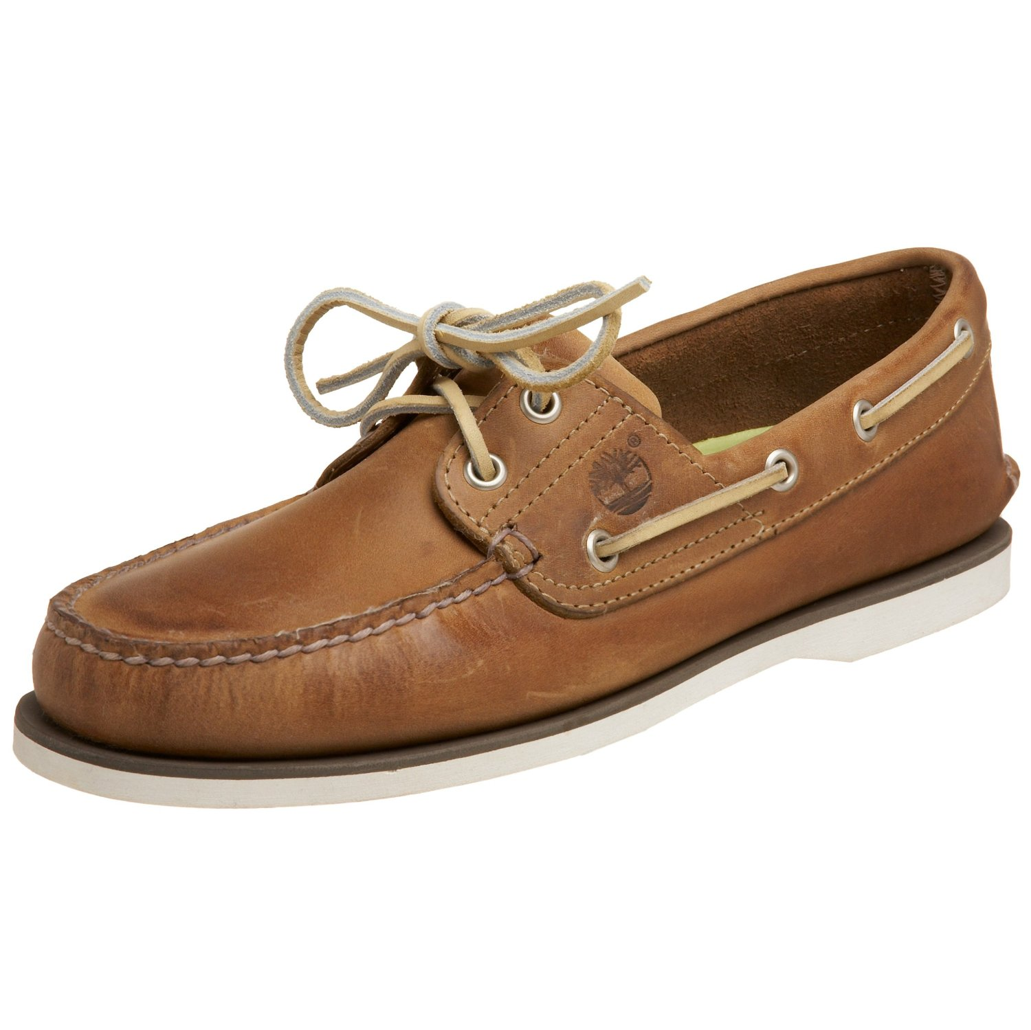 timberland mens classic 2eye boat shoe in brown for