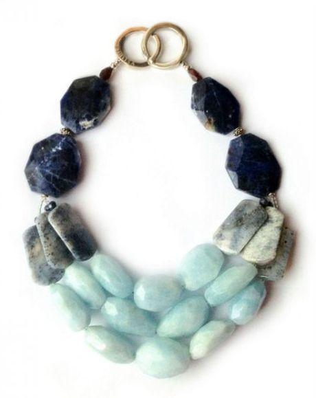 La Diosa Kezen Necklace in Blue (aquamarine)