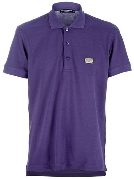 Dolce & Gabbana Polo Piquet in Purple for Men