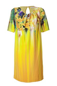 Matthew Williamson Mustard Printed Silk Dress - Lyst