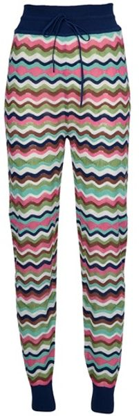 Missoni Print Trouser in Multicolor (green) - Lyst