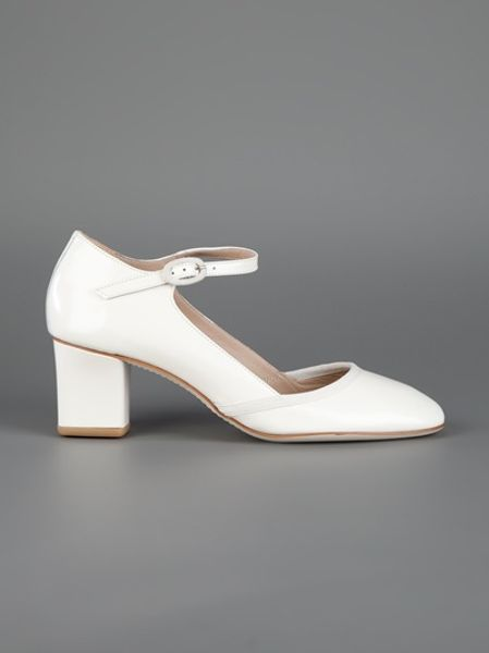 Repetto mary jane shoe in white lyst