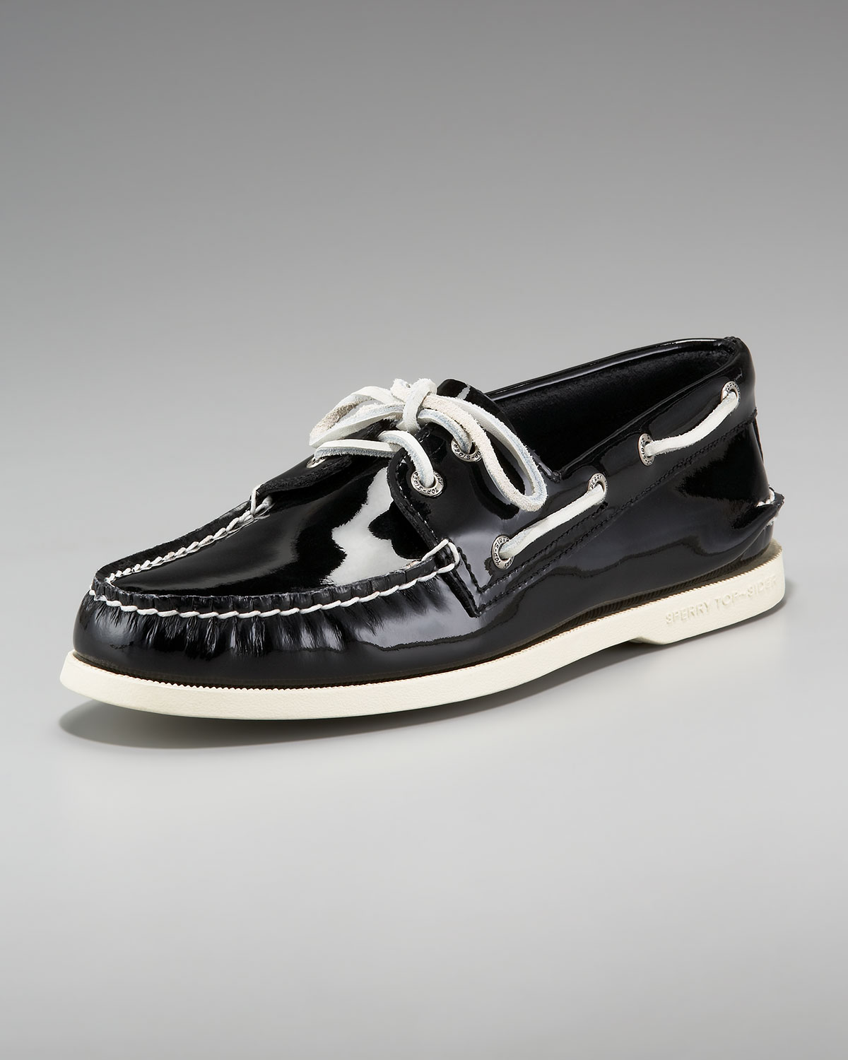e8dbbfdf145 Lyst - Sperry Top-Sider Ao Patent Boat Shoe in Black for Men
