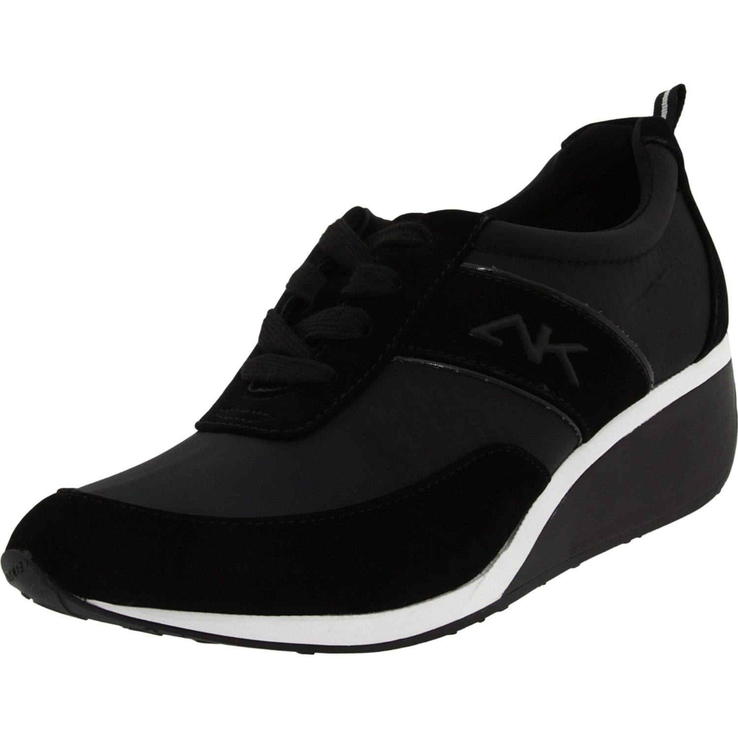 ak klein sport womens goldee sneaker in black black