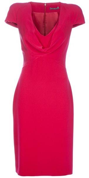 Alexander Mcqueen Silk Dress in Red