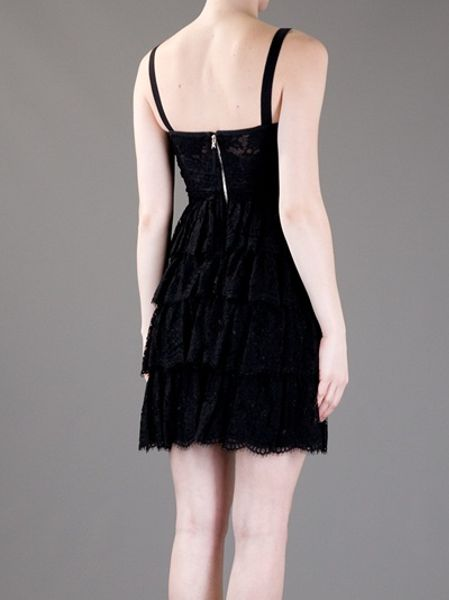 D Amp G Lace Tiered Dress In Black Lyst