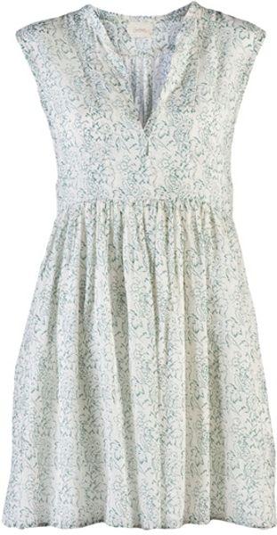Giada Forte Print Dress in Green (white)
