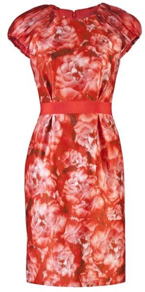 Giambattista Valli Printed Dress in Multicolor (red)