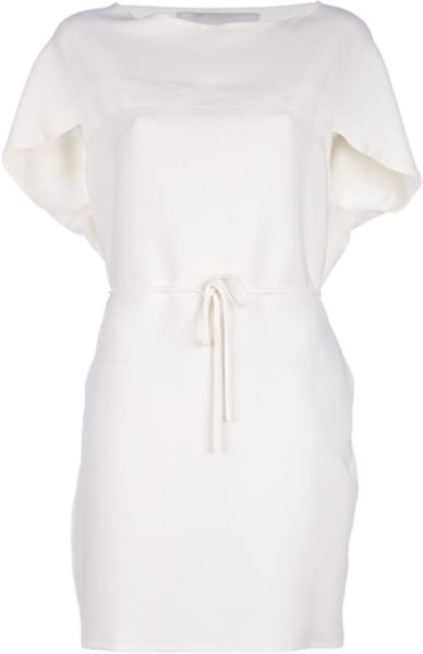 Valentino Belted Dress in White