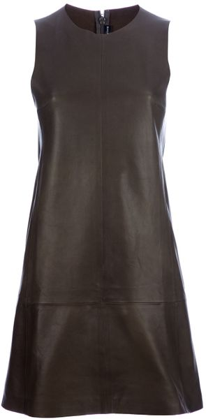 Balenciaga Leather Dress - Lyst