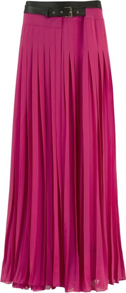 ted baker galva pleated maxi skirt pink in pink lyst