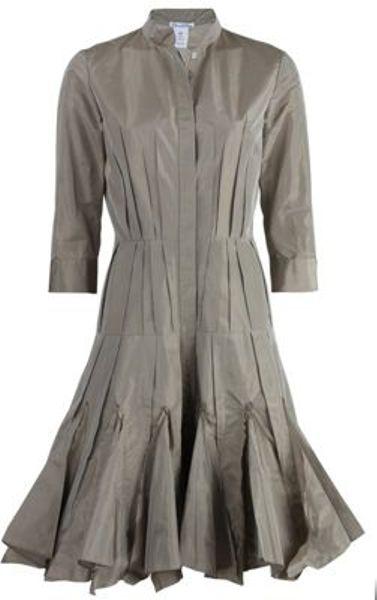 Oscar De La Renta Oscar De La Renta Dress in Brown (clay)