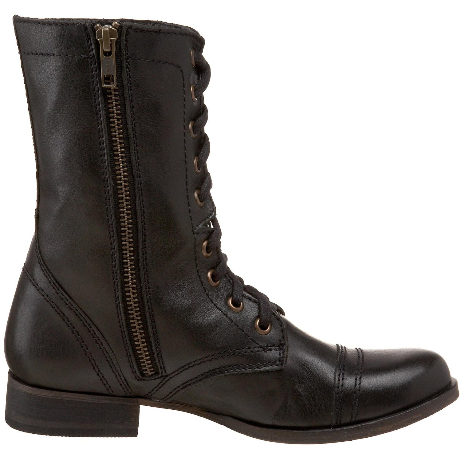 shoeniverse steve madden womens troopa ankle boot. Black Bedroom Furniture Sets. Home Design Ideas