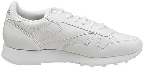 Reebok Womens Classic Leather Sneaker In White Lyst