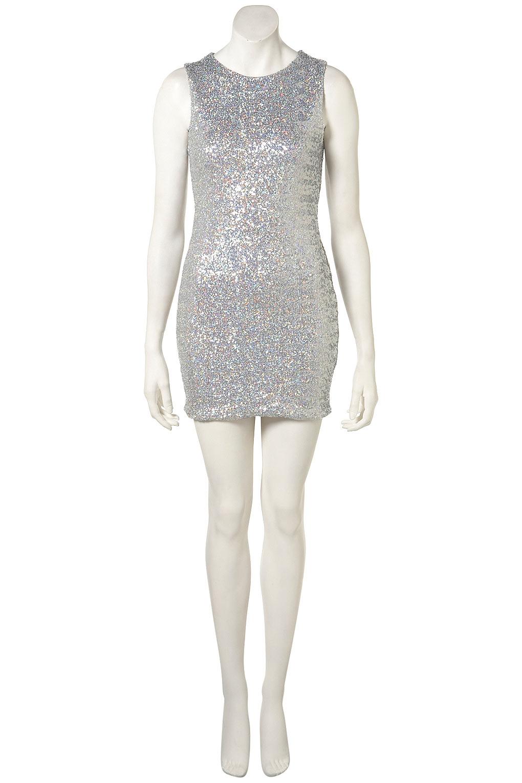 Lyst Topshop Petite Disco Sequin Bodycon Dress In Metallic