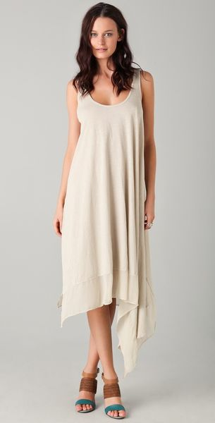 Elizabeth And James Adrienne Dress in Beige (ash) - Lyst