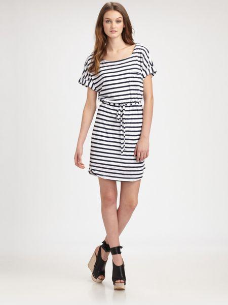 Splendid Nautical Striped Dress In Blue White Lyst