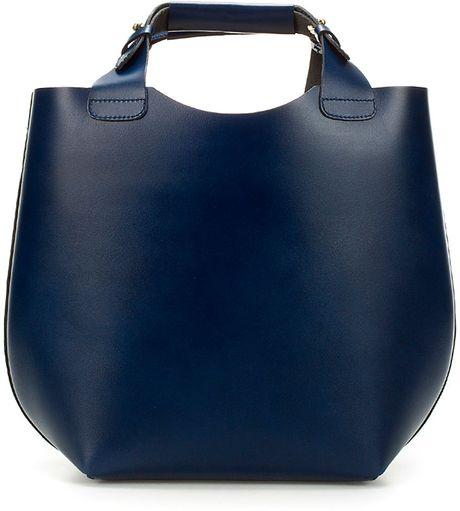Zara Mini Shopper in Blue (navy)