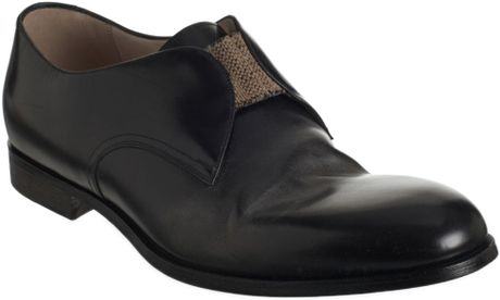 Bottega Veneta Plain Toe Slipon in Black for Men