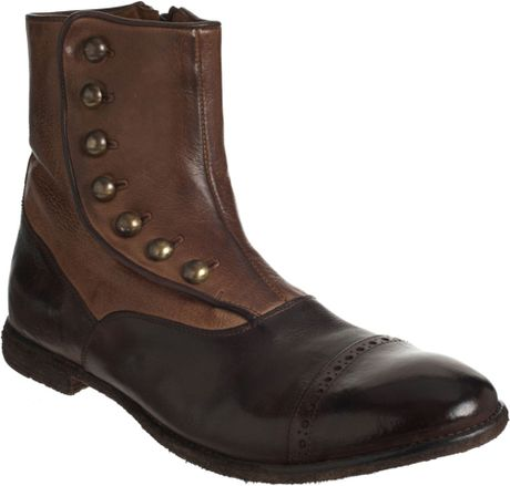 officine creative spats ankle boot in brown for lyst