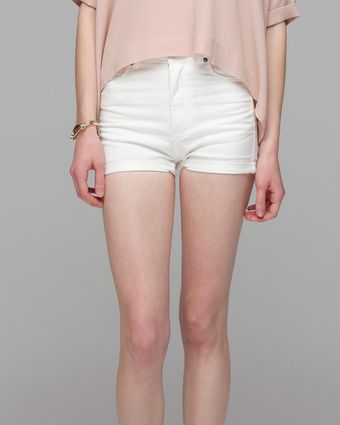 Cheap Monday Short Skin in White - Lyst