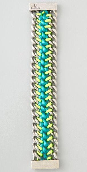 Dannijo Amos Bracelet In Green Silver Lyst