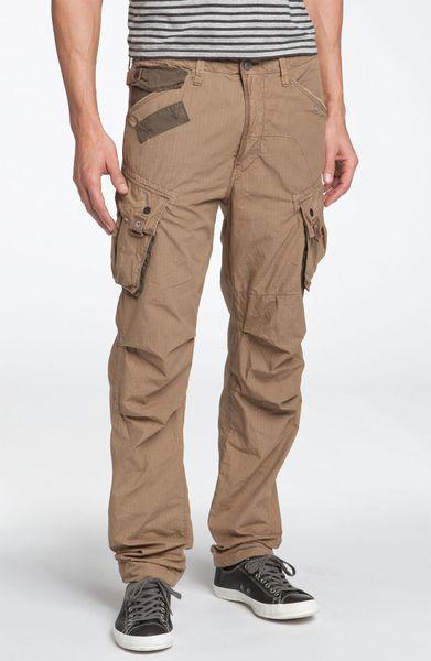 g star raw gstar halo rovic cargo pants in beige for men. Black Bedroom Furniture Sets. Home Design Ideas