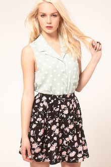 Mink Pink Minkpink Peppermint Patty Polka Dot Shirt - Lyst