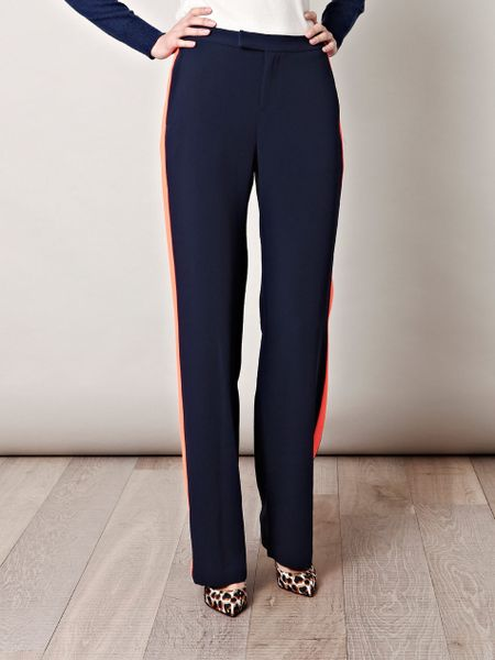 Rag & Bone Dwight Contrast Stripe Trousers in Blue (navy)