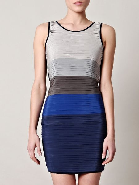 Rag & Bone Layered Bodycon Dress in Blue (navy)