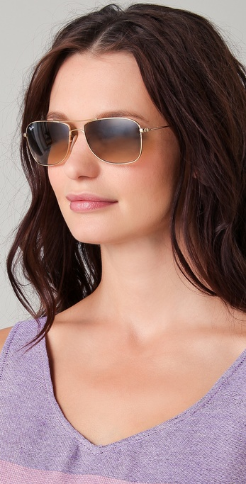 Lyst - Ray-Ban Cockpit Evolution Aviator Sunglasses in Metallic a5f5cecc0b0d