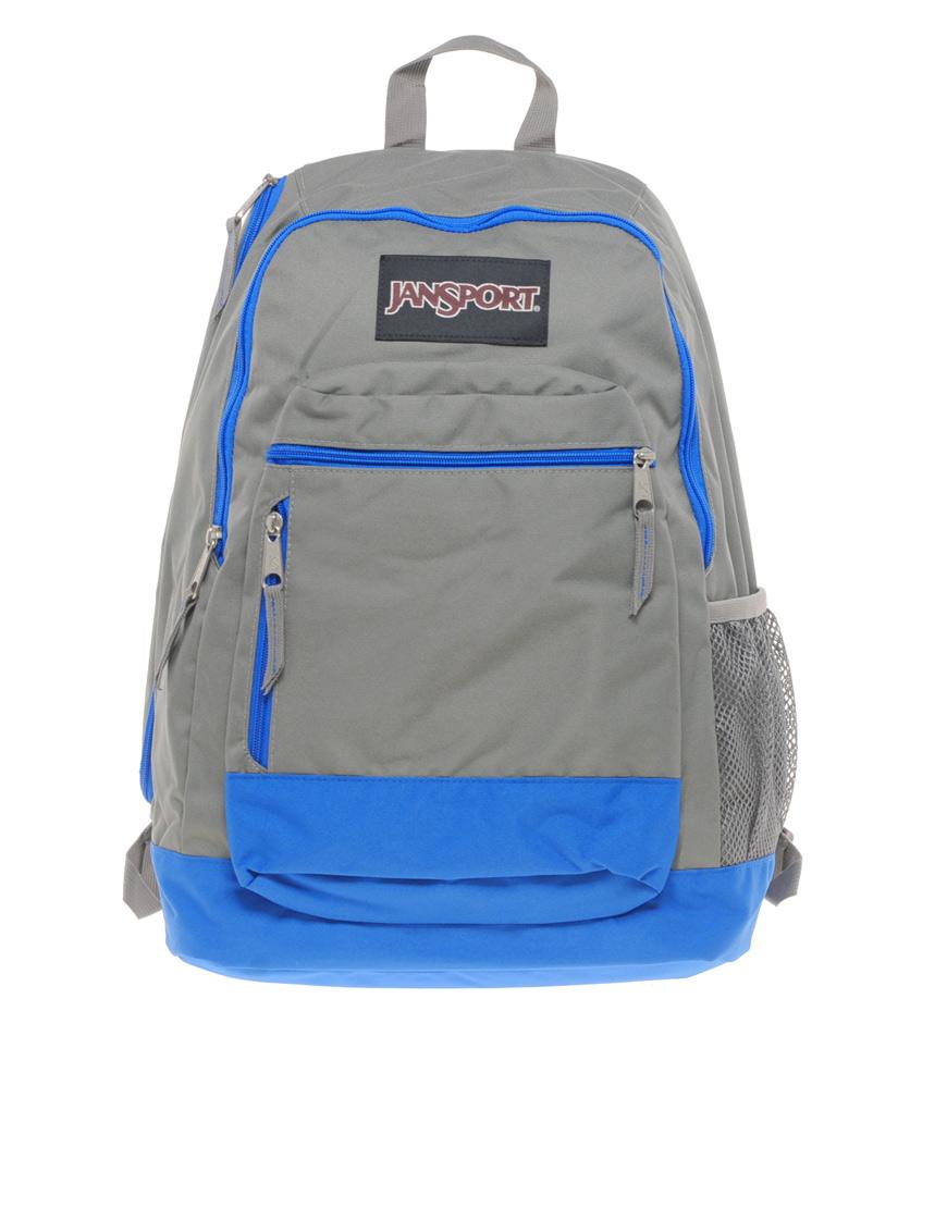 Blue And Grey Jansport Backpack | Os Backpacks