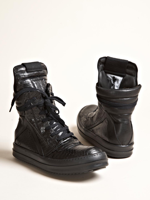 Black Geobasket High Sneakers Rick Owens T2bvF