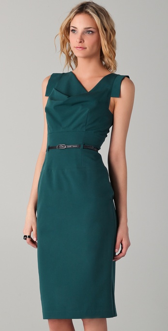 Lyst Black Halo Jackie O Belted Dress In Green