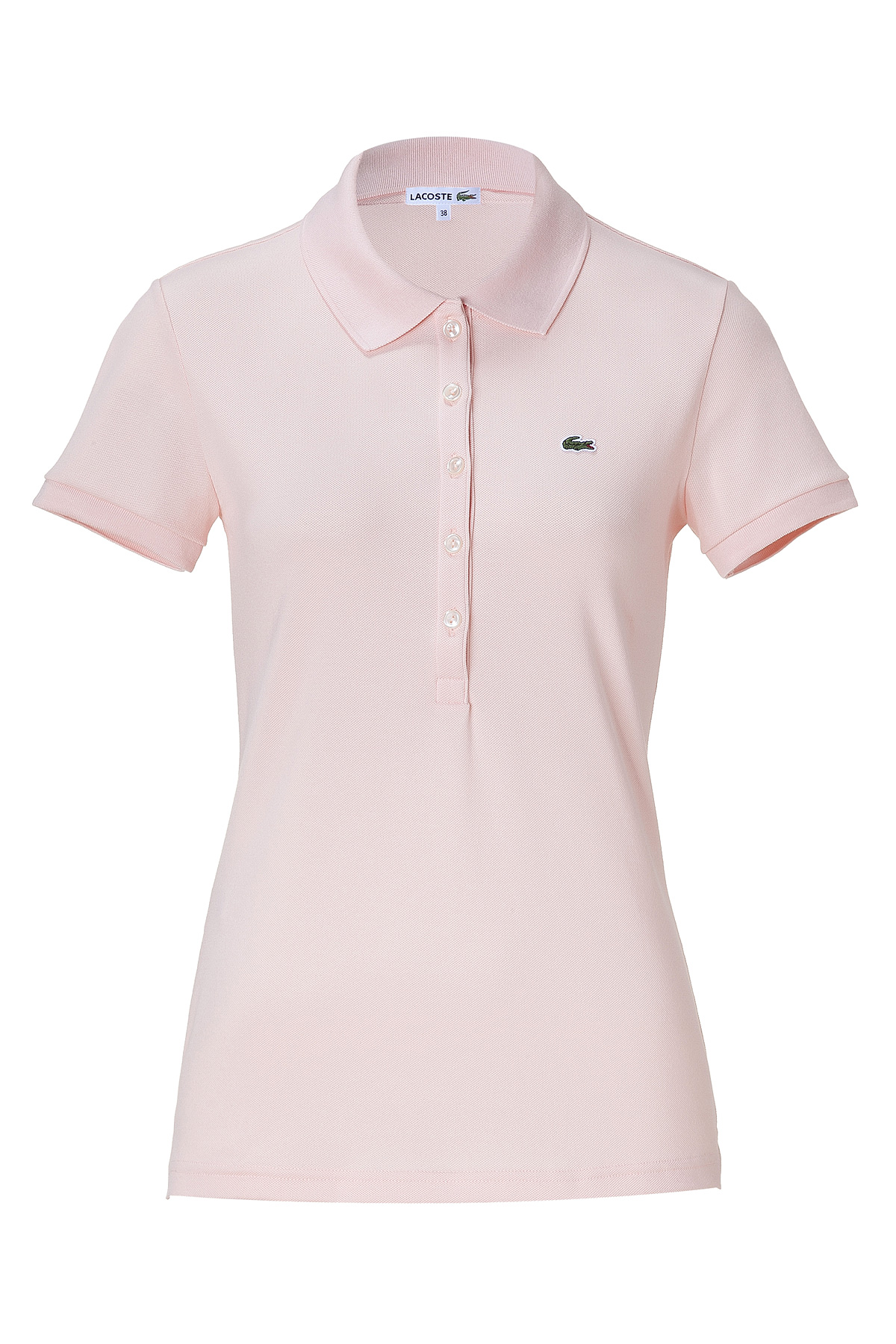 6f1aa815caf1 Lyst - Lacoste Pale Rose Ss Polo Shirt in Pink