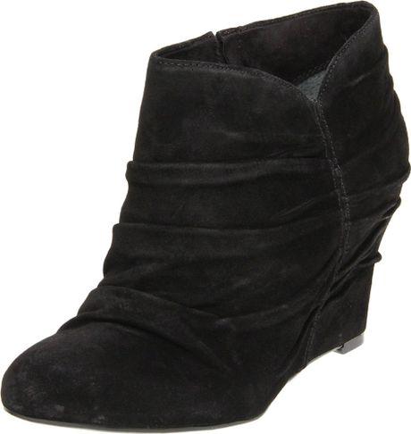 nine west revvedup ankle boots in black black suede lyst
