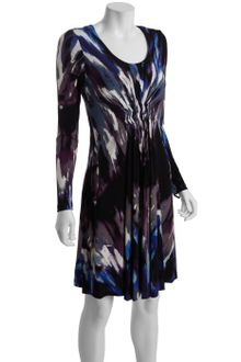 Long Sleeve Wrap Dress on Black Long Sleeve Vneck Wrap Horse Shoe Ring Dress In Black   Lyst