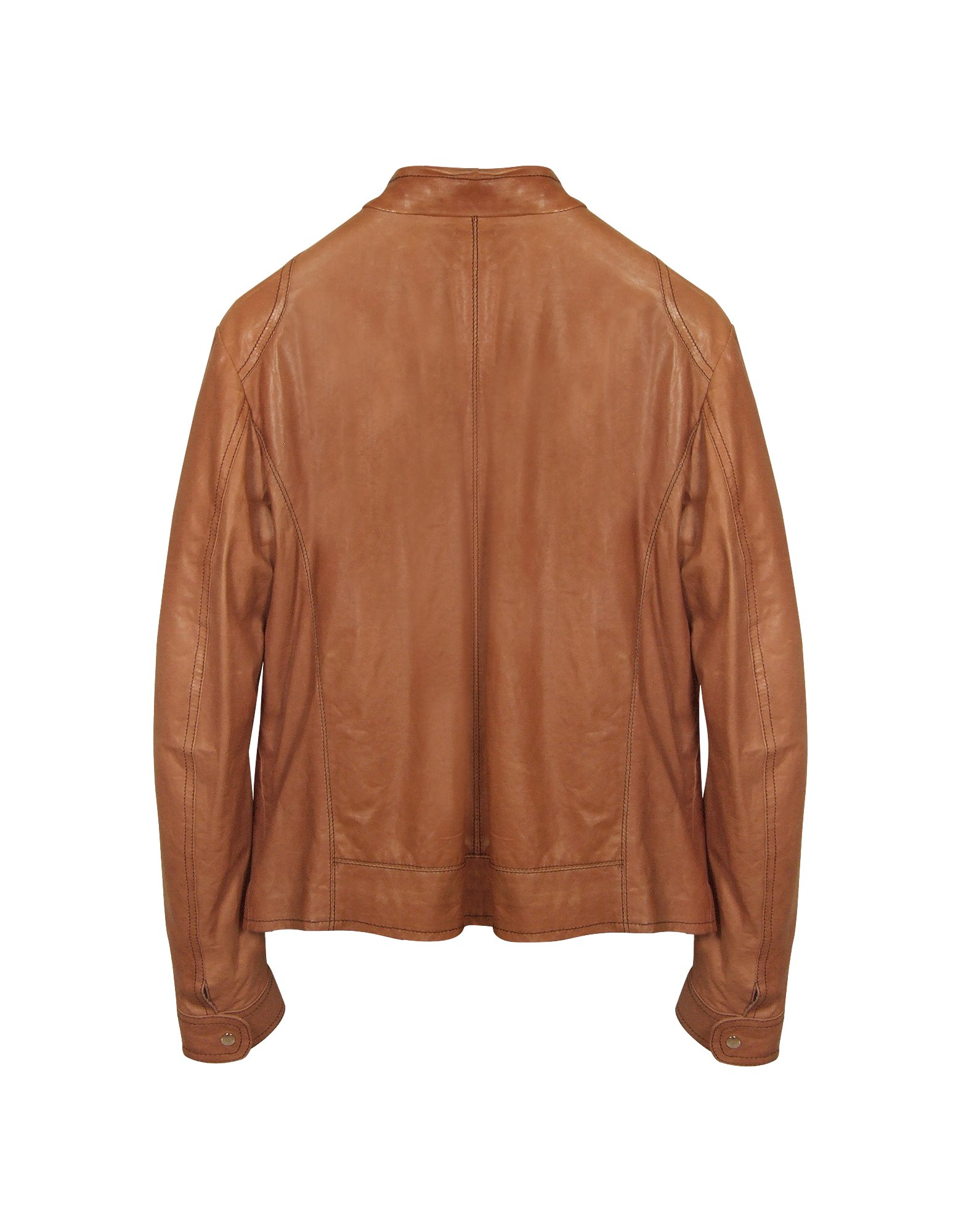 Leather jacket tan