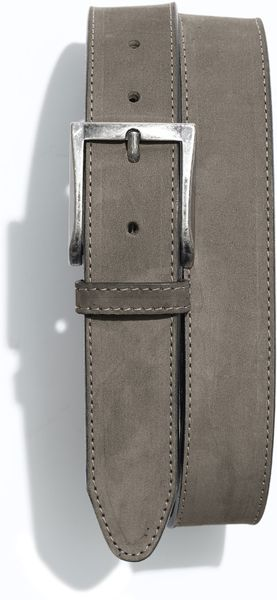1901 Nubuck Leather Belt in Gray for Men (grey)