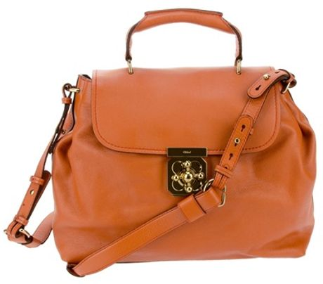 Chloé Front Flap Bag in Orange
